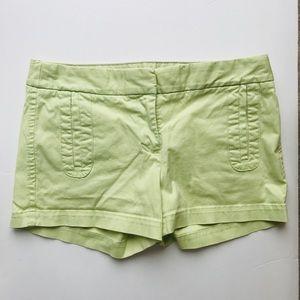 "J. Crew Lime Green Frankie Stretch 3"" Chinos"